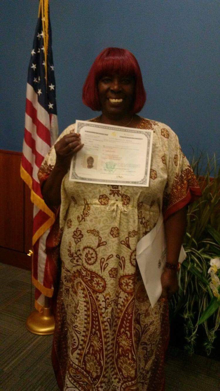 Citizenship Announcement: Congratulations, Imani!